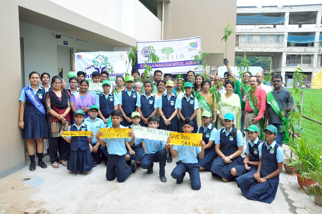 Celebration of Van Mahotsav week by Eco Club of Kerala Samajam Model School in Collaboration with Rotary Club (main) Jamshedpur