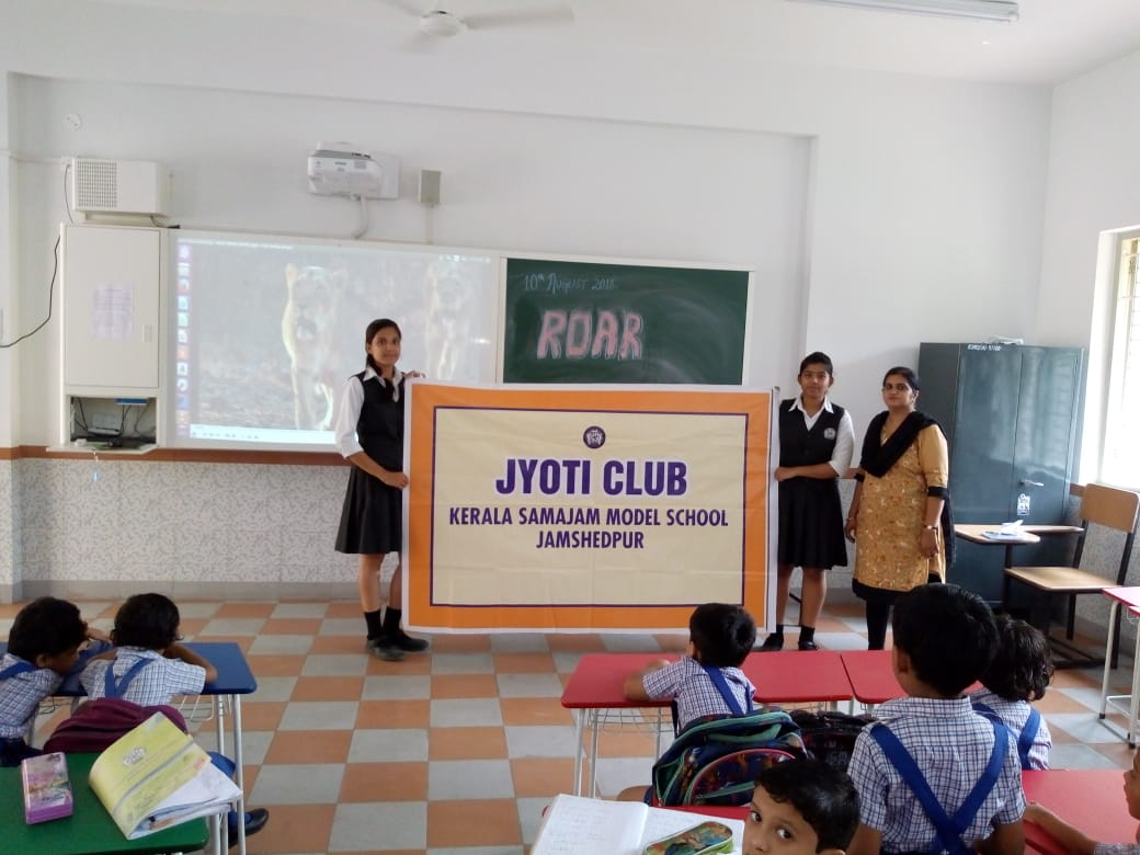"Jyoti Club of Kerala Samajam Model School organises a Documentary named ""Roar"""
