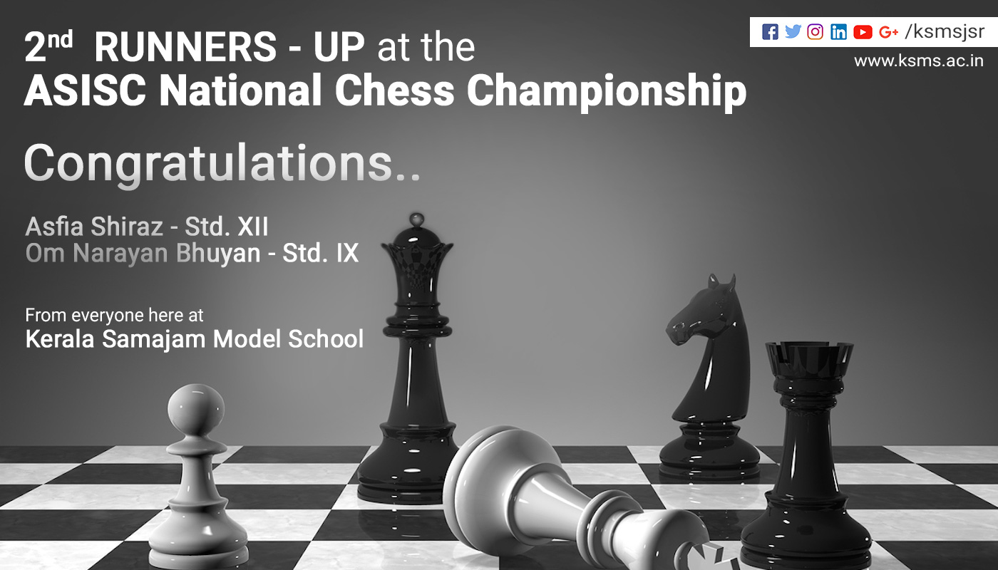 2nd  Runners-up at the ASISC National Chess Championship at the National Level.