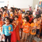 The KG students of Kerala Samajam Model School celebrated
