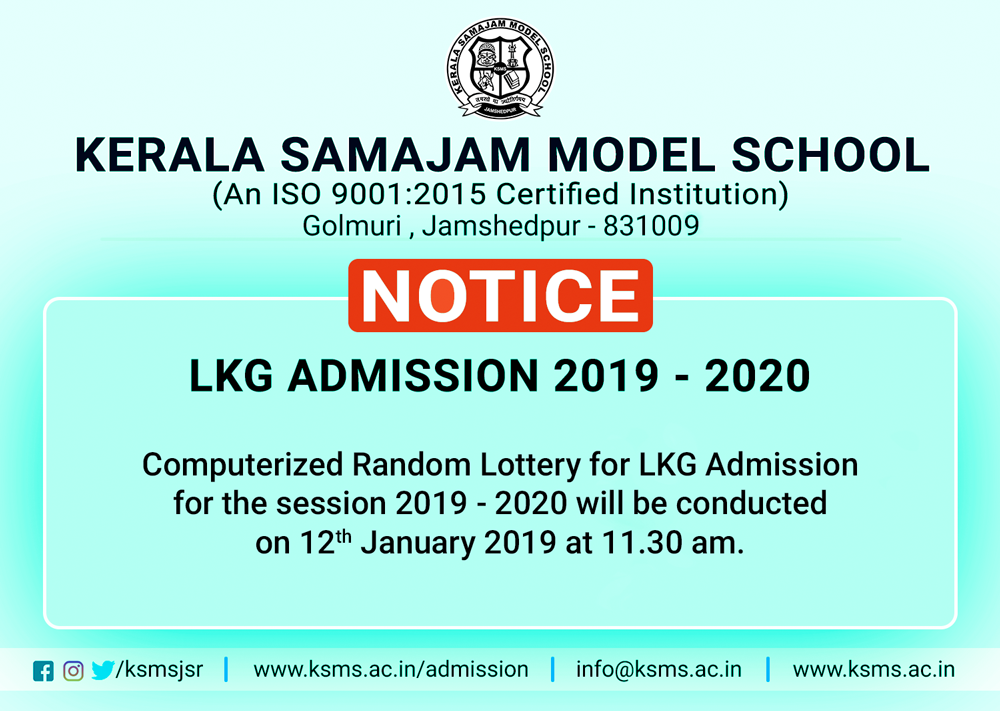 LKG Admission 2019 - 2020 Lottery