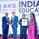 Mr. K. Muraleedharan (BoT Member) and Mrs. Vrinda Suresh (Senior Teacher) receiving the award in a glittering function held on 25th February 2019 in New Delhi.