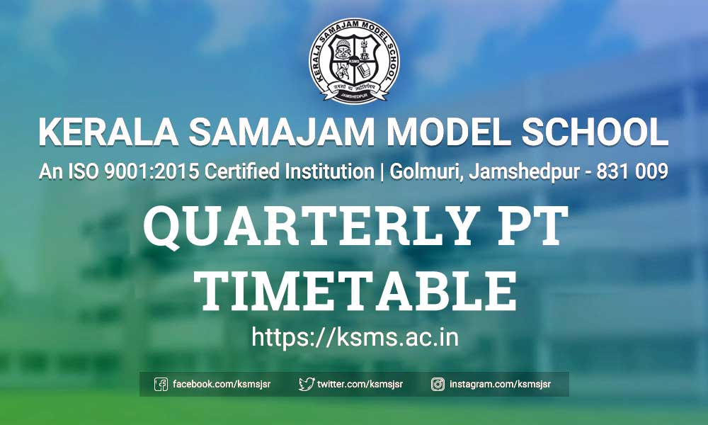 KSMS Quarterly PT Timetable 2019 - 2020