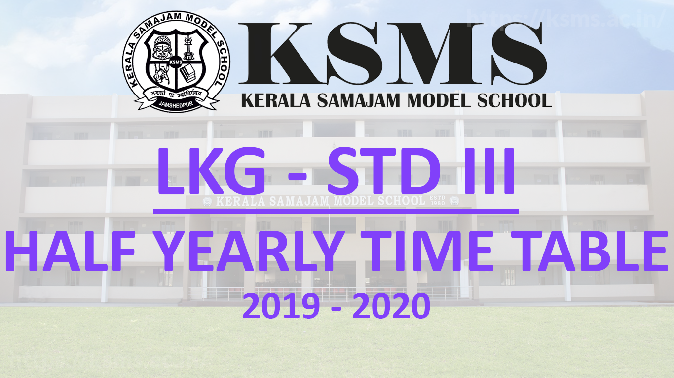 Portions & Time Table for Half Yearly Exam 2019 – 20