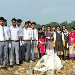 Cleanliness drive at Domuhani by students of KSMS